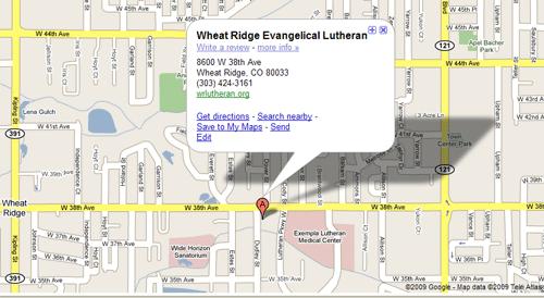 Contact Map Wheat Ridge Lutheran Church Wheat Ridge Colorado