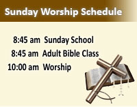Sunday Worship Schedule